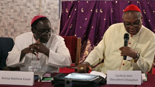 Bishop Matthew Kukah and Catholic Archbishop of Abuja Cardinal John Onaiyekan
