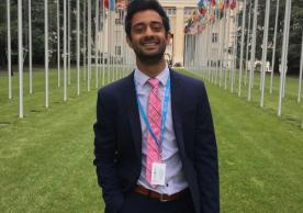 Azan outside the United Nations Headquarters