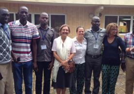 Serap Aksoy and Dr. Adalgisa Caccone from Yale EEB pictured with Yale postdoctoral fellow Dr. Norah Saarman and other graduate students from Kenya and Uganda at a Tsetse Workshop