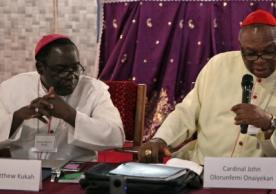 Bishop Matthew Kukah and Catholic Archbishop of Abuja Cardinal John Onaiyekan